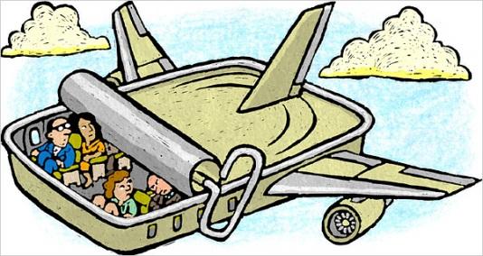 airplane sardines
